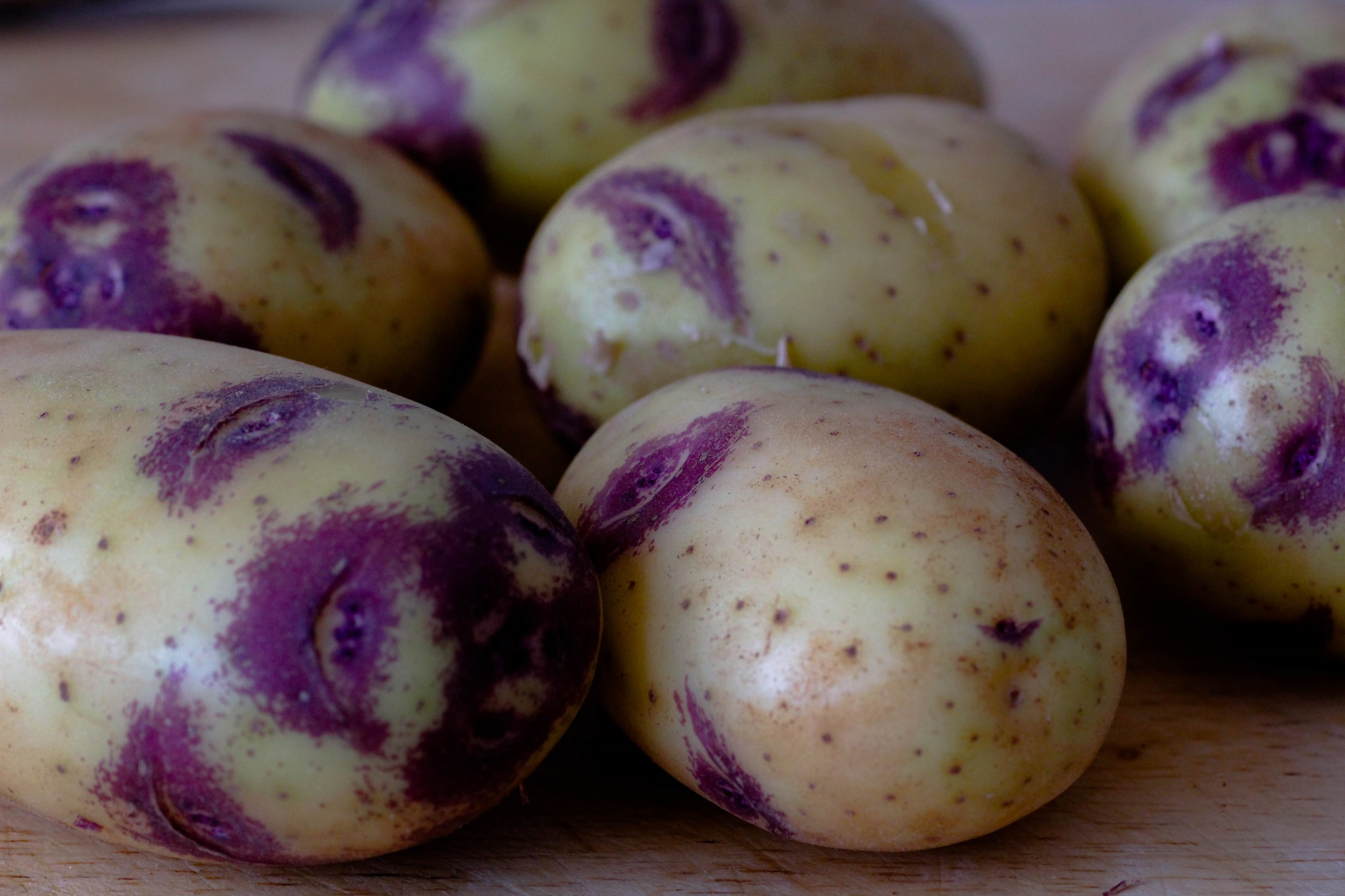 תפוחי אדמה טריים של חורף